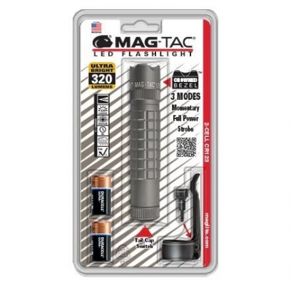 MAGTAC™ 2-Cell CR123 LED Flashlight Crowned Bezel